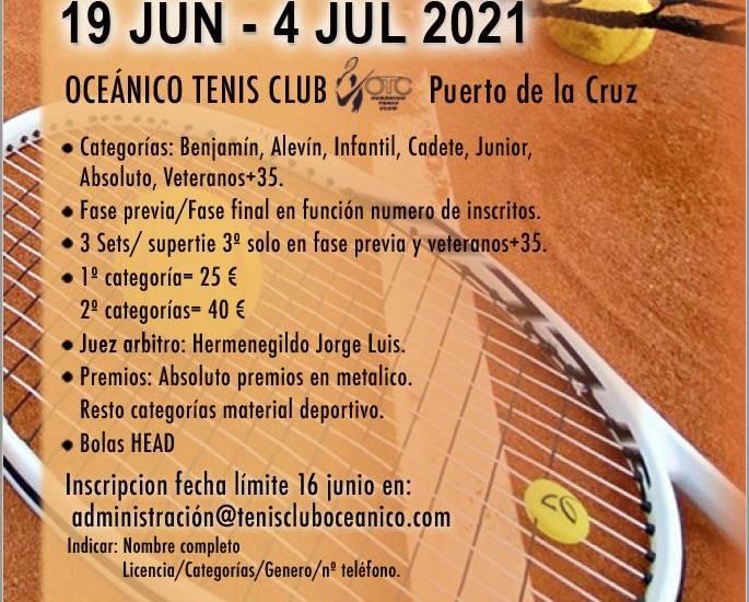 CUADROS PRINCIPALES Y CONSOLACION DEL OPEN GRAN PODER 2021. ÓRDENES DE JUEGO 3 y 4 DE JULIO.